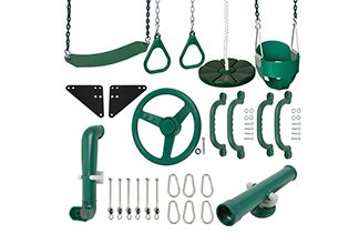Swing set kits and plans